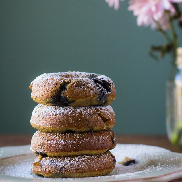 Coconut Flour Blueberry Donuts With Banana, Honey & Coconut Oil