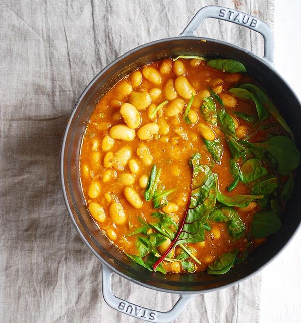 White Bean Stew With Greens