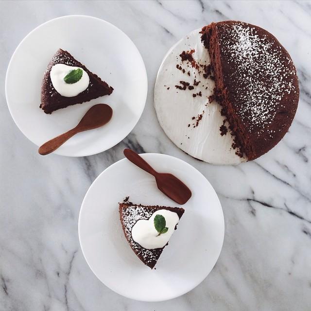 Almost-flourless Dark Chocolate Cake