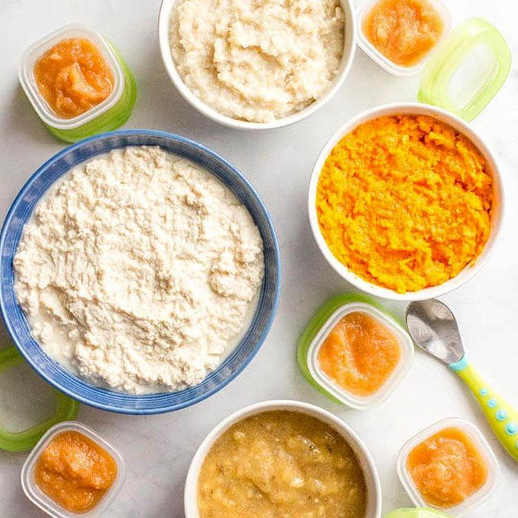 Homemade Baby Food: Sweet Potatoes, Brown Rice, Chicken, Pears & Banana