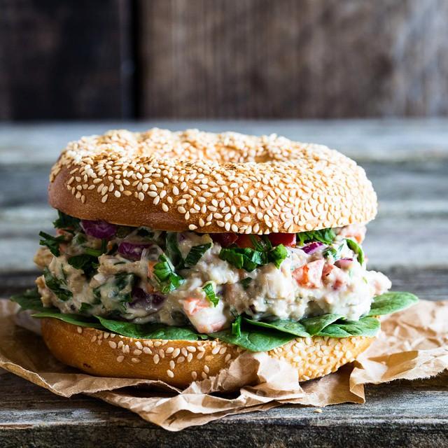 Bagel Salad Sandwich