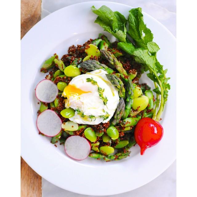 Quinoa & Lima Bean Asparagus Salad