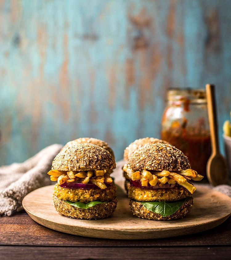 Chickpea And French Fry Sliders