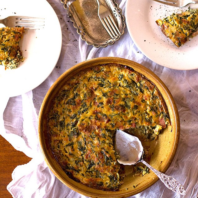 Low Carb Spinach & Bacon Tart