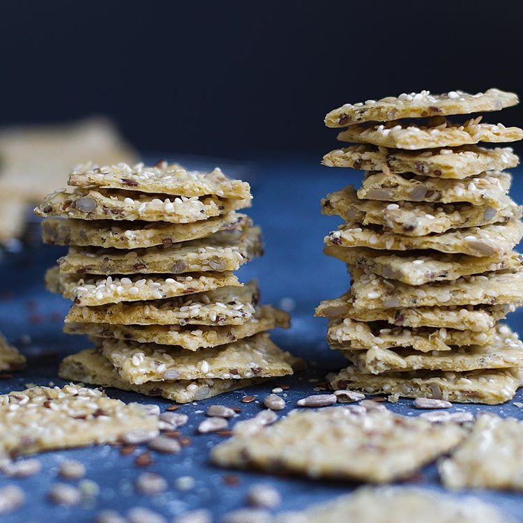 Homemade gluten-free, low-carb crackers! You can't buy these, but you can sure as hell make them!…