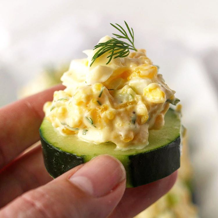 Egg Salad And Cucumber Bites