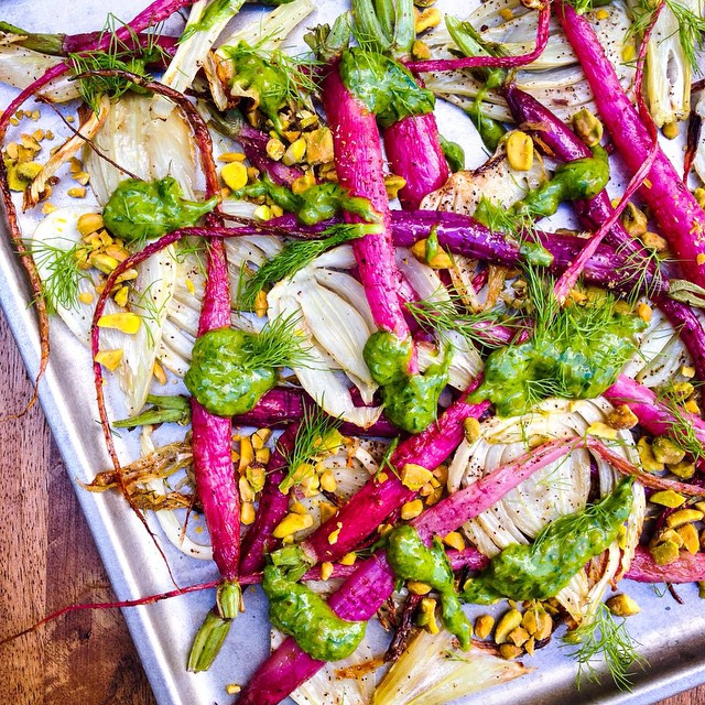 Shunkyo Radishes & Fennel With Chives, Capers & Toasted Pistachios