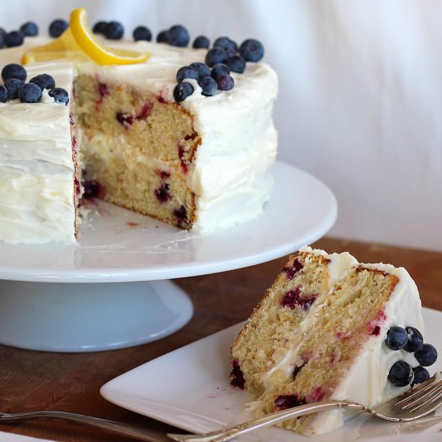 Lemon & Fresh Blueberry Cake
