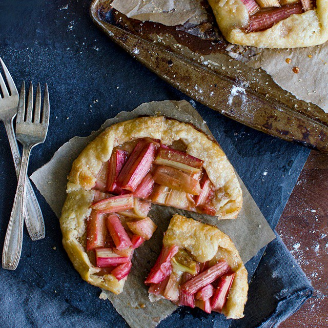 Rhubarb Galettes With Honey & Lemon Juice