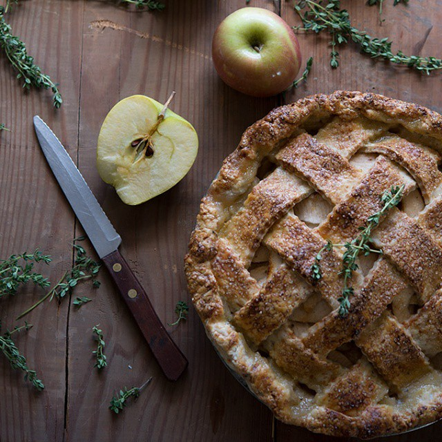 Smoky Gruyère, Thyme And Apple Pie