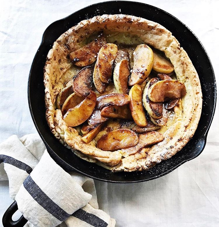 Browned Butter, Vanilla-cardamom Dutch Baby With Glazed Cinnamon Apples