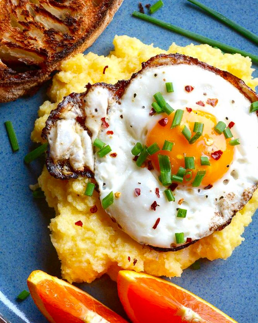 Mascarpone Polenta With Fried Eggs