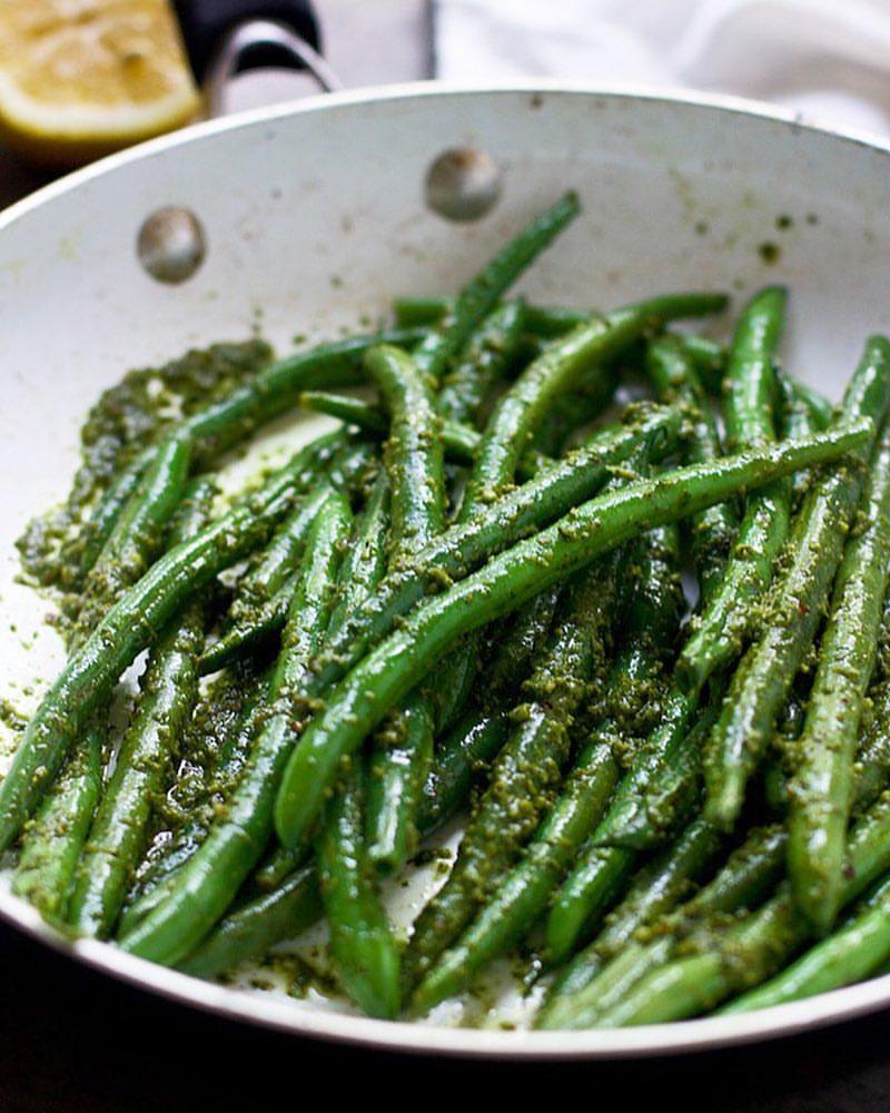 Sautéed Pesto Green Beans