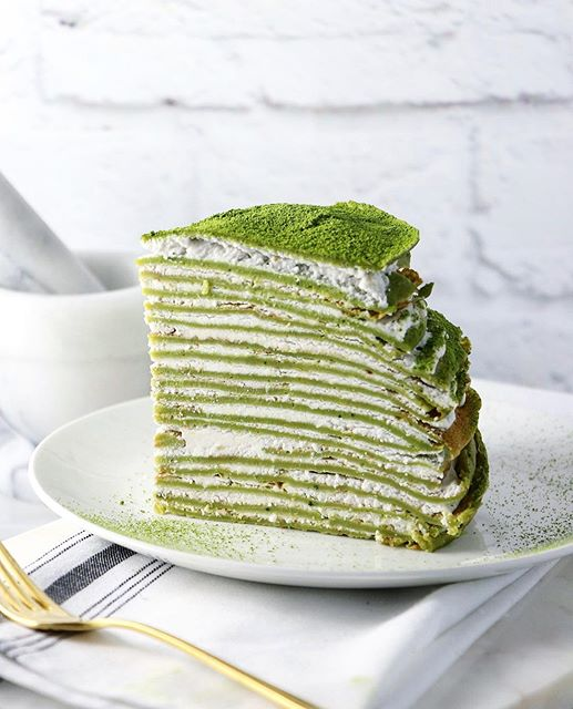 matcha crepe cake matcha crepe cake with coconut recipe 5742