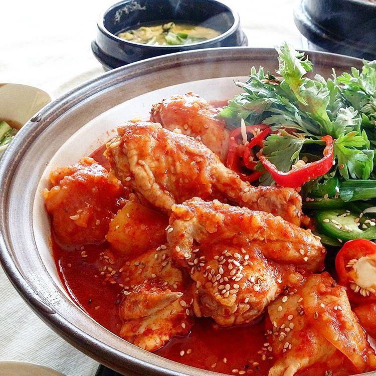 Korean Spicy Braised Chicken