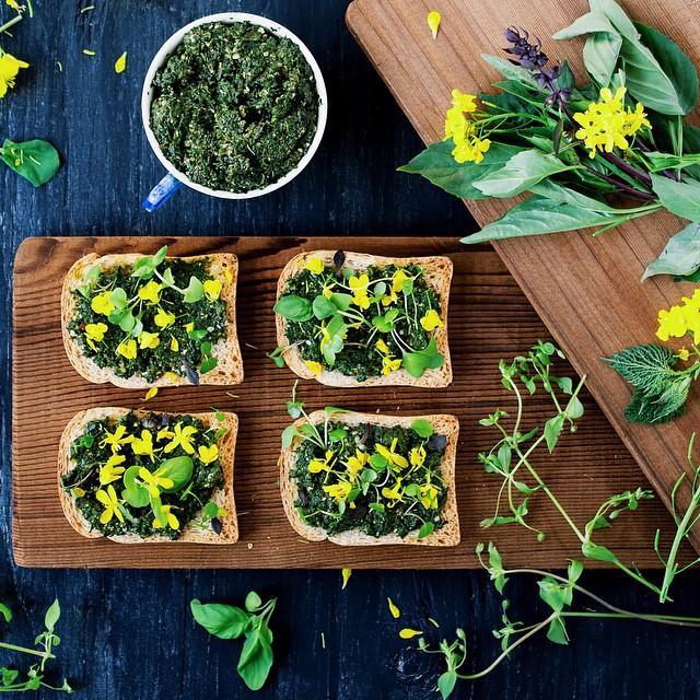 Stinging Nettle, Basil And Hemp Seed Pesto