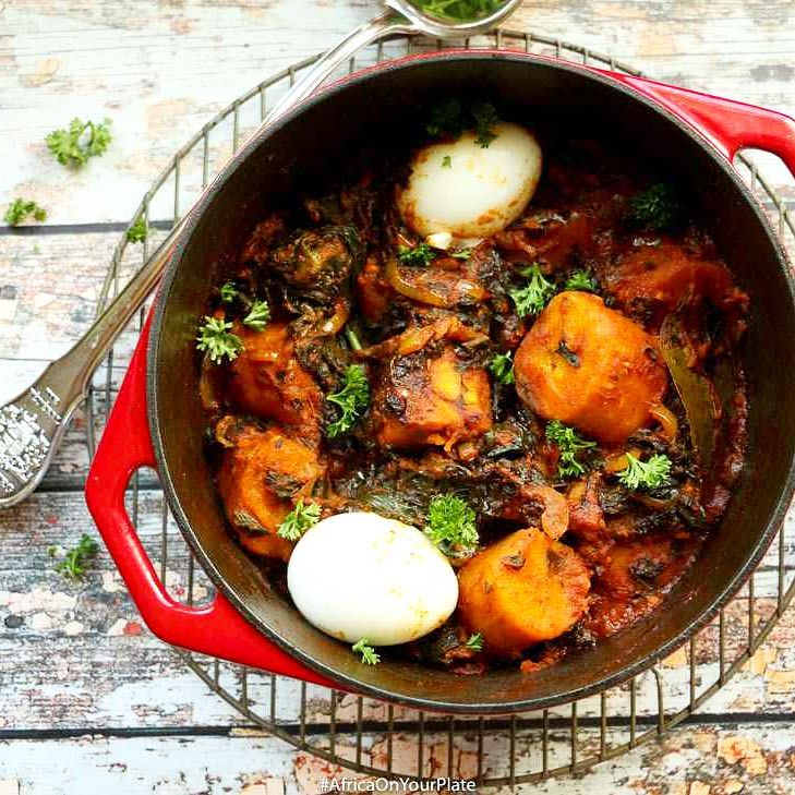 One-Pot African Berbere Plantain and Spinach Stew. This beauty here is perfect for those moments…