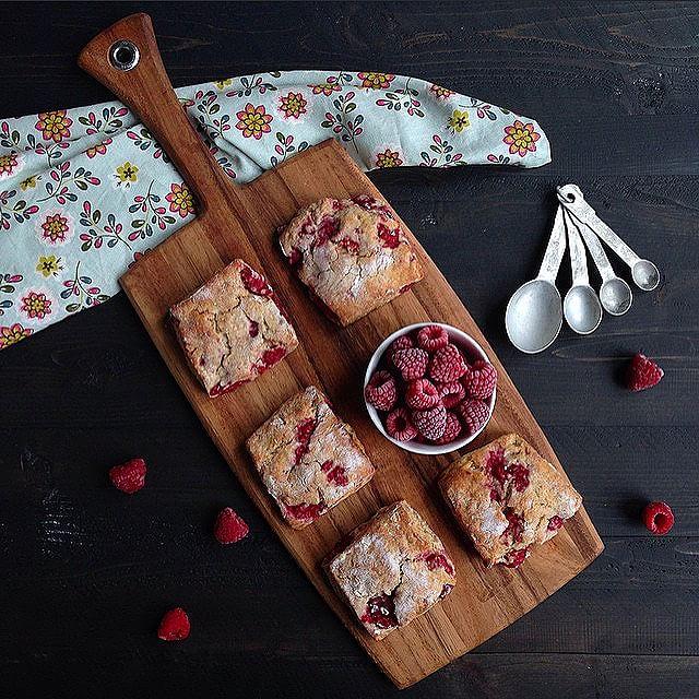 Raspberry & Ricotta Scones
