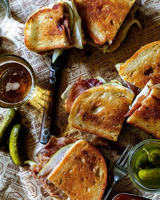 Pear And Prosciutto Grilled Cheese With Gruyere