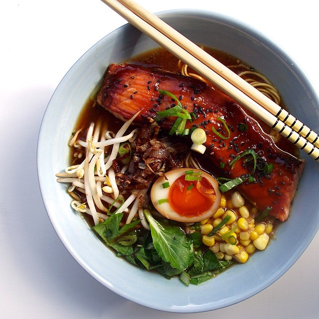 Spicy Miso & Salmon Ramen