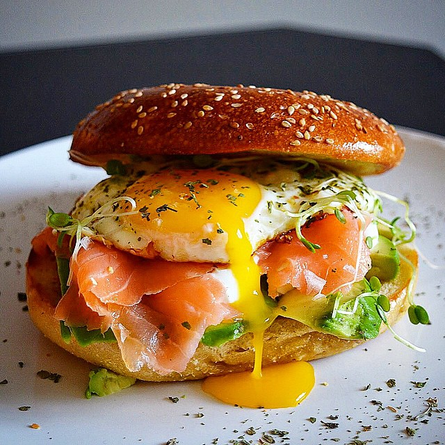 Spiced Smoked Salmon Egg Sandwich