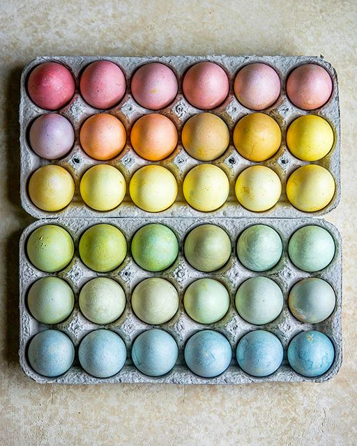 Naturally Dyed Rainbow Easter Eggs