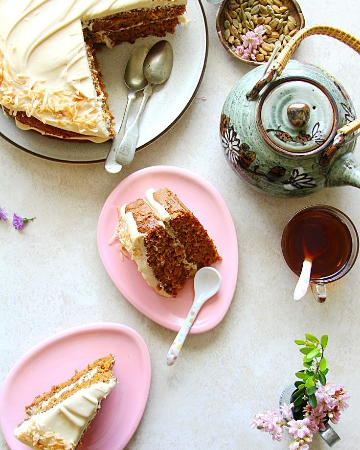 Carrot Chai Coconut Cake