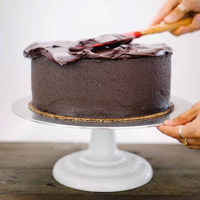 Dark Chocolate Mascarpone Cake With Dark Chocolate Ganache