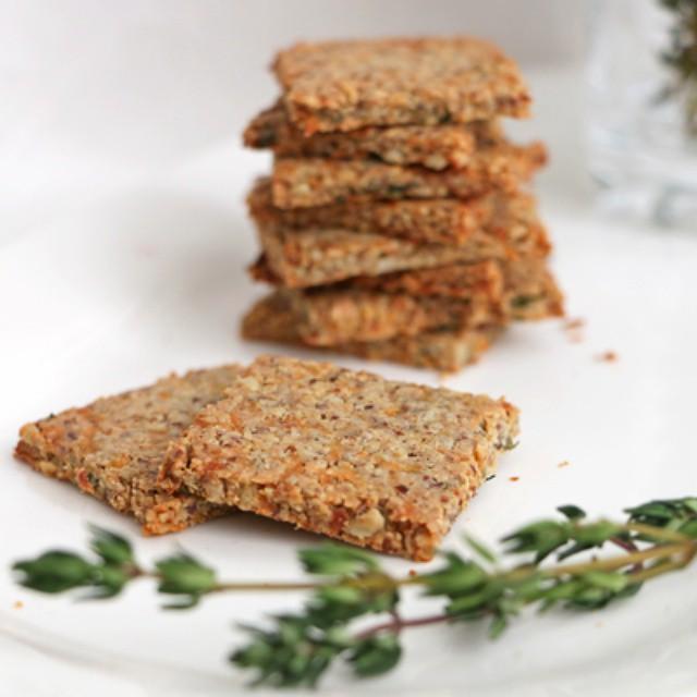 Grain Free Parsnip & Thyme Grain Crackers