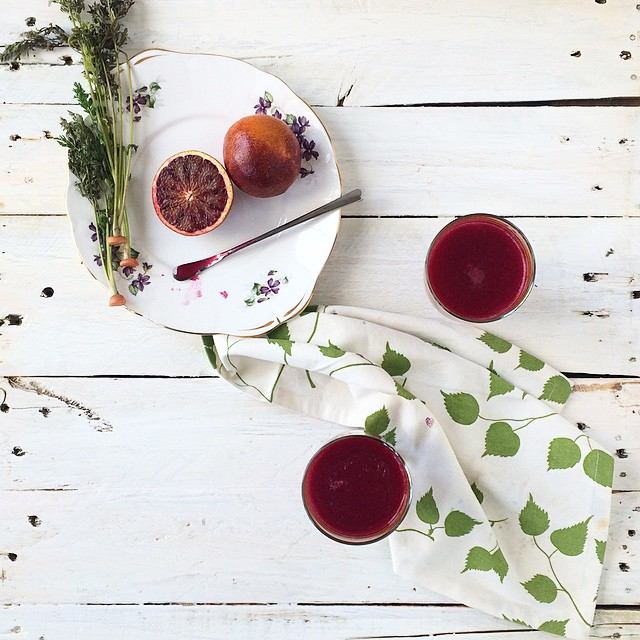 Beetroot Juice With Carrots And Blood Orange