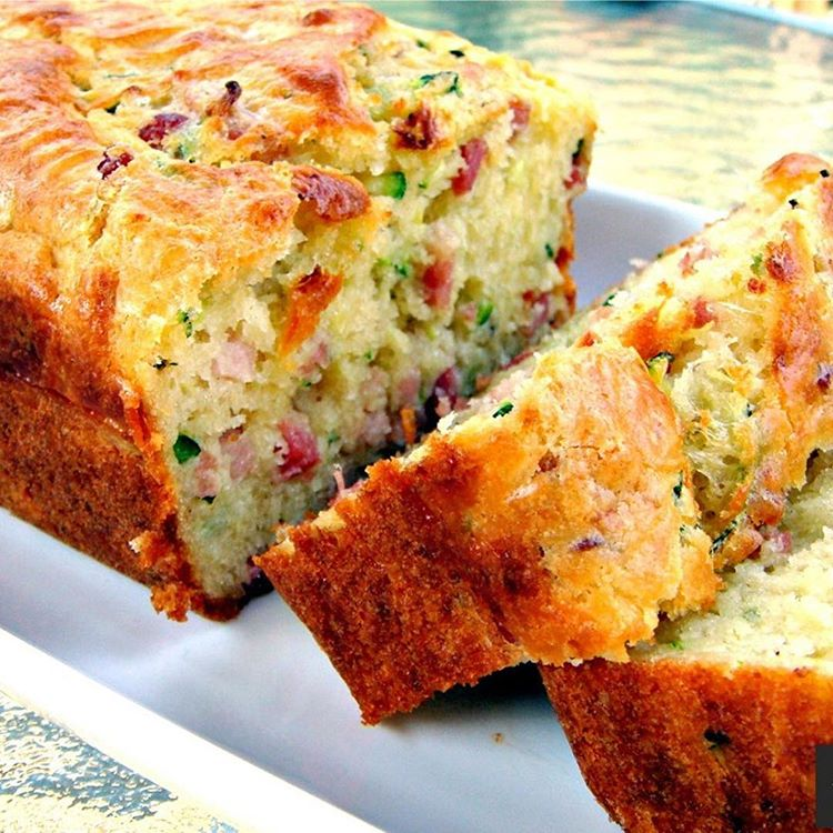 Savory Zucchini Bread With Bacon And Cheddar