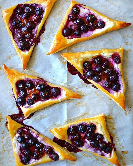 Blueberry Cream Cheese Puff Pastries