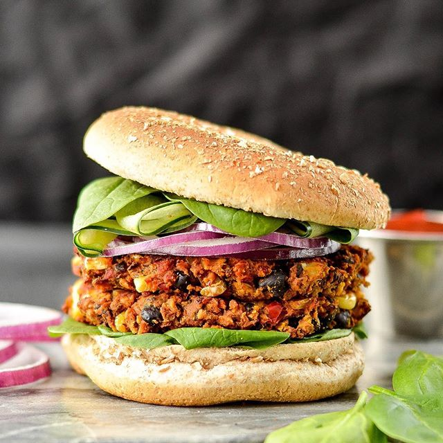 Hey there you gorgeous stack of veggie goodness. These Baked Sweet Potato Black Bean Veggie Burgers…