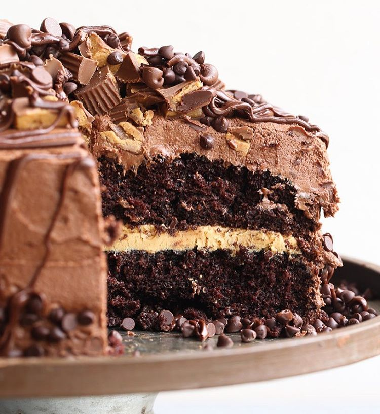 Peanut Butter Chocolate Layer Cake • Shelly Jaronsky