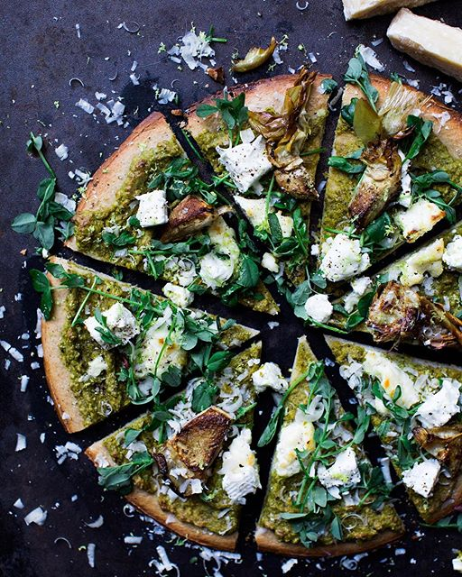 Spring Pizza With Pea And Ramp Pesto