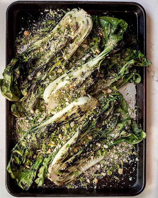 Grilled Bok Choy with Breadcrumbs, Parmesan, Parsley & Lemon. Grab the recipe on the blog tonight…