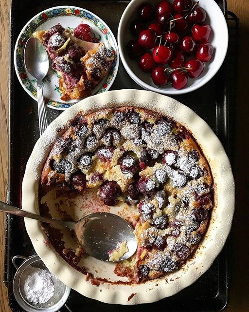 Cherry clafoutis, a perfect match.