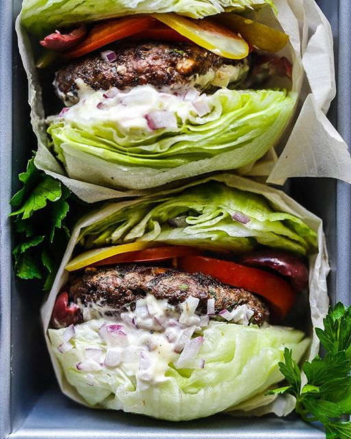 Whole30 Greek Burgers... I won't tell you my secret ingredients, but I will say that one of them…