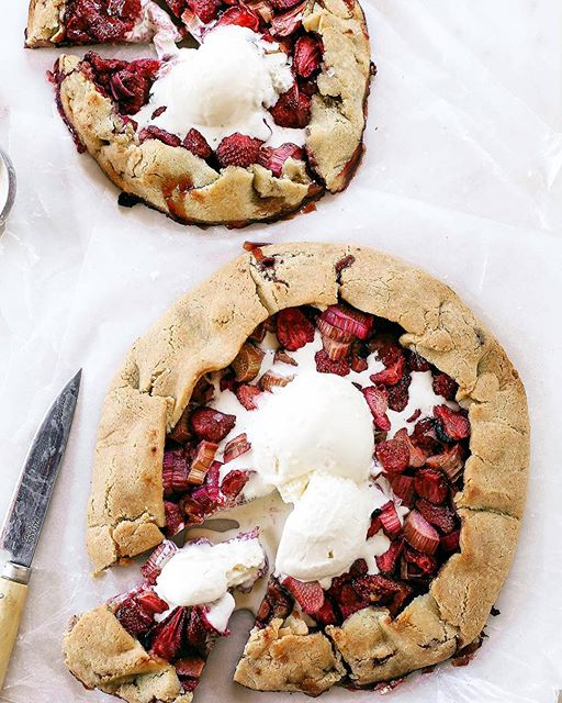 Strawberry Rhubarb Almond Flour Galette