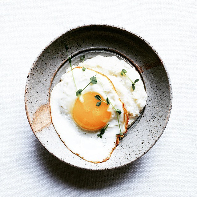 Grits With An Olive Oil Fried Egg