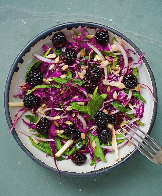 Purple Cabbage And Blackberry Salad