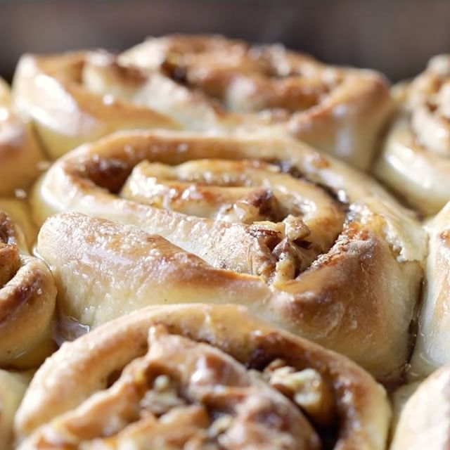 Imagine soft, sweet dough stuffed with butter, soft brown sugar, cinnamon and pecans then baked…