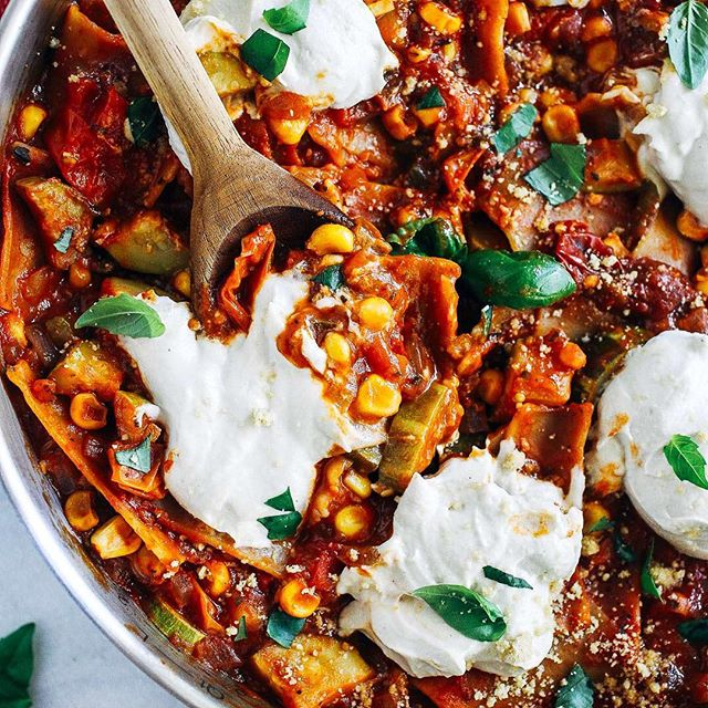 Vegetable Lasagna With Cashew Ricotta Cheese Recipe The