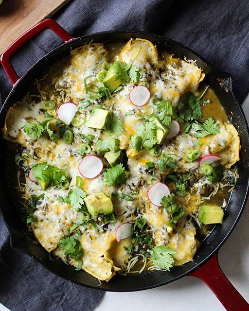 Cheesy Spinach And Zucchini Enchilada Skillet • Christina