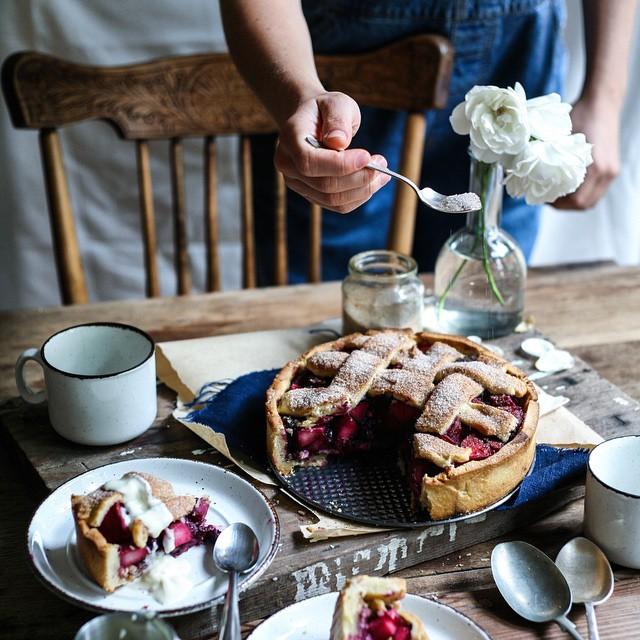 Apple & Blueberry Hazelnut Deep-dish Pie