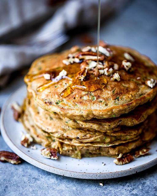Zucchini Bread Pancakes recipe | The Feedfeed