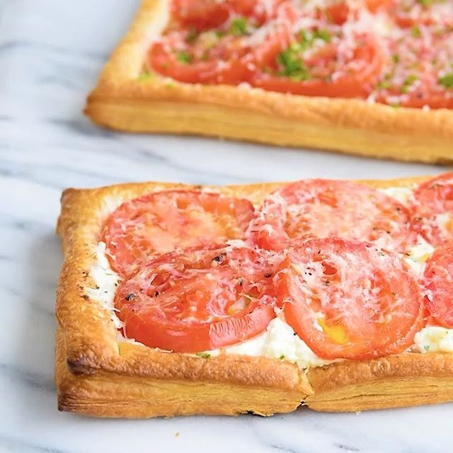 Puff Pastry Tomato Tarts With Feta And Ricotta