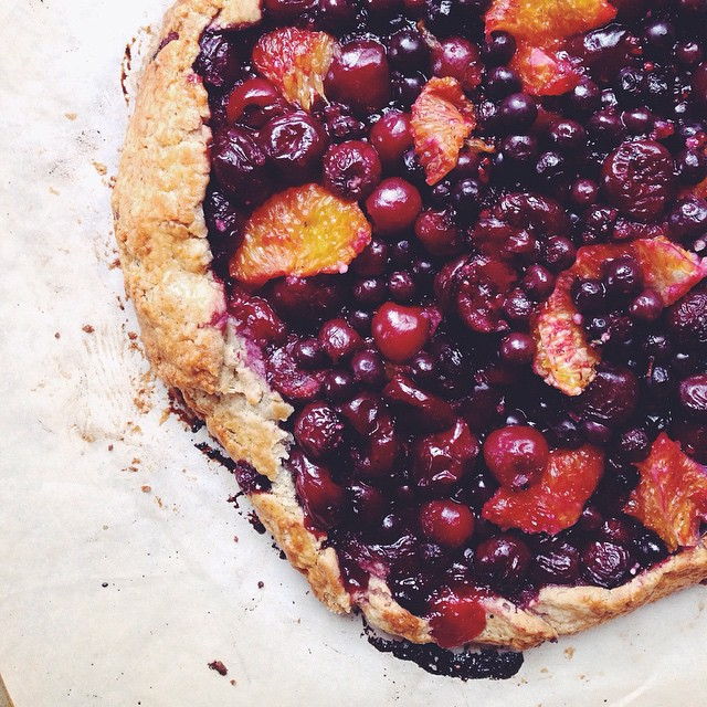 Blueberry & Cherry Vodka-crusted Galette With Orange, Bitters & Nutmeg