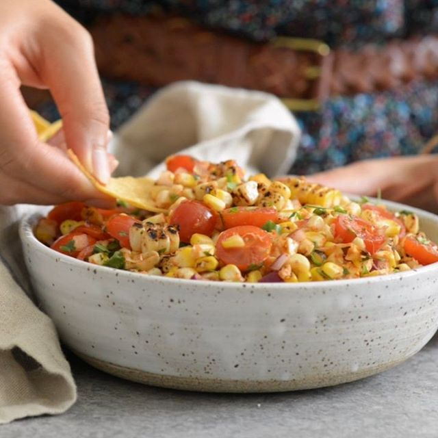 Grilled Corn And Cherry Tomato Salsa