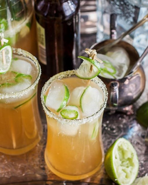 Beergaritas With Jalapeno And Hops Salt